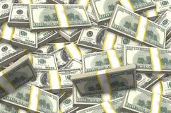 Stapel von Dollar Lizenzfreie Stockfotos