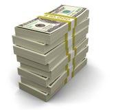 Stapel von Dollar (Beschneidungspfad eingeschlossen) Vektor Abbildung