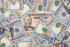 Stapel von $100 Dollarscheinen Stockbilder