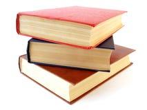 Stapel von drei Büchern Stockfotografie