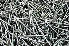 Stapel von Eisennägeln Stockbild