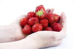 Stapel von Erdbeeren Stockbild