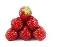 Stapel von Erdbeeren Stockfotografie