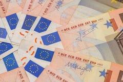 Stapel von Euro 50 Stockbilder