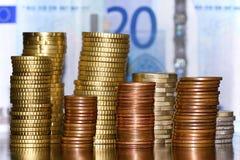 Stapel von Euro Lizenzfreies Stockbild