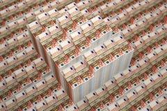 Stapel von 50 Eurobanknoten vektor abbildung