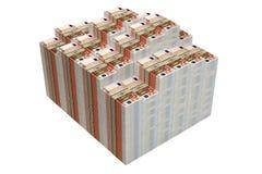 Stapel von 50 Eurobanknoten stock abbildung