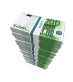 Stapel von 100 Eurobanknoten Lizenzfreie Stockbilder