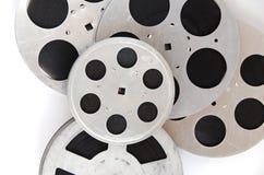 Stapel von Filmrollen schließen oben Lizenzfreies Stockfoto