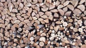 Stapel von firewoods Hintergrund Stockbilder