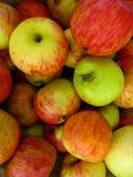 Stapel von frisch ausgewählten Äpfeln stockbild