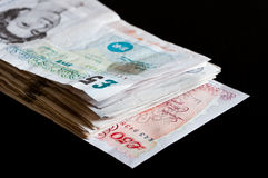Stapel von gbp-Geschäft und -finanzierung Sterling der Geldbritischen pfunde Lizenzfreie Stockbilder