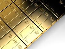 Stapel von goldbars Stockfotografie