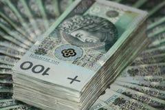 Stapel von hundert Zloty Lizenzfreie Stockbilder