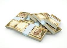 Stapel von Indien-Geld lokalisiert auf weißem Hintergrund Stockbild