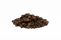Stapel von Kaffeebohnen Stockfotos
