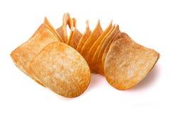 Stapel von Kartoffelchips Lizenzfreies Stockbild