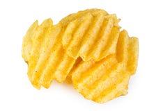 Stapel von Kartoffelchips Stockfoto