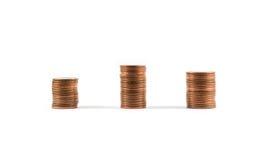 Stapel von Münzen Stockfoto