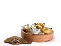 Stapel von Münzen, Stapel des Goldes Lizenzfreies Stockfoto