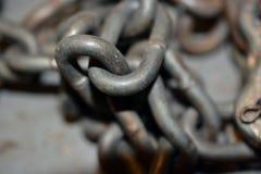 Stapel von Metallketten Lizenzfreie Stockfotografie