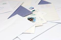 Stapel von Post stockbild