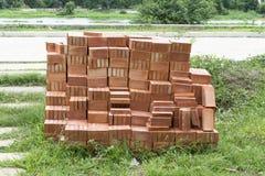 Stapel von rotem Clay Brick Lizenzfreie Stockfotografie