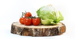 Stapel von roten Tomaten Stockbild