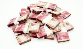 Stapel von südafrikanischem Ran Bank Notes lizenzfreie abbildung