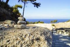 Stapel von Steinen stockfoto