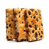 Stapel von traditionellem, Englisch Garibaldi-Kekse stockfoto