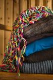 Stapel warme kleren Royalty-vrije Stock Afbeelding