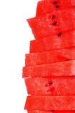 Stapel watermeloenplakken op geïsoleerd wit Royalty-vrije Stock Fotografie