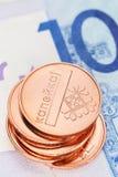 Stapel Weißrussland-Münzen Stockfotos