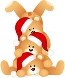 Stapel Weihnachtsteddybären stock abbildung