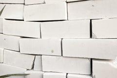 Stapel Witte Bakstenen Stock Foto's