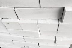 Stapel Witte Bakstenen Stock Afbeelding