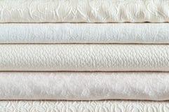 Stapel witte textiel Royalty-vrije Stock Fotografie