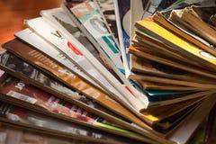 Stapel Zeitschriften Lizenzfreies Stockbild