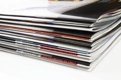 Stapel Zeitschriften stockbild