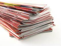Stapel Zeitschriften Stockbilder