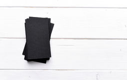 Stapel zwarte adreskaartjes Stock Foto's