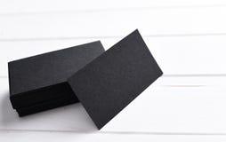 Stapel zwarte adreskaartjes Royalty-vrije Stock Afbeeldingen