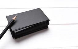 Stapel zwarte adreskaartjes Royalty-vrije Stock Fotografie