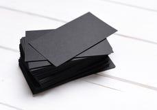 Stapel zwarte adreskaartjes Royalty-vrije Stock Afbeelding