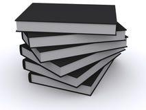 Stapel zwarte boeken Stock Afbeeldingen