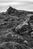 Stapeley Hill Cairn. This is one of several cairns on Stapeley Hill in Shropshire Royalty Free Stock Images