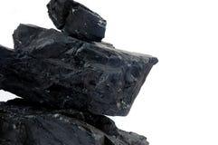 Stapelklumpen der Kohlen Stockfoto