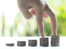 Stapelmuntstukken, Financieel concept Stock Foto