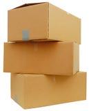 Stapeln der Kastenpakete lizenzfreies stockfoto
